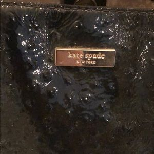 kate spade Bags - Kate Spade black patent faux ostrich handbag